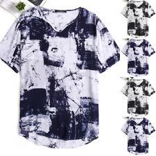 Mens Summer Hippie Hippy T Shirt Festival Kurta V-Neck Short Sleeve Tops Tee