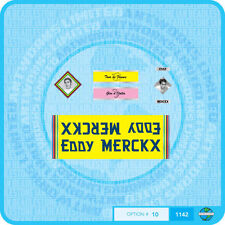 EDDY MERCKX Vélo-Stickers Autocollants Transferts - - - lot de 10