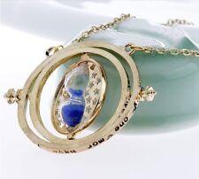 collier pendentif Harry Potter sablier retourneur de temps Hemione sable bleu