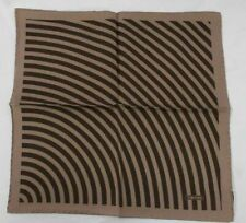 NEW! TOM FORD Pocket Square Brown Striped 100% Silk TF820