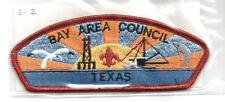 BAY AREA S-2 CSP MINT Vintage TX Boy Scout Mgd Council Patch- PB