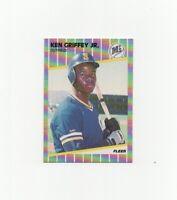 1989 Fleer Ken Griffey Jr Rookie #548 Baseball Card Seattle Mariners