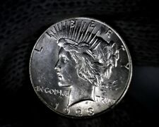 "Error ""Die Break UNITED"" VAM BU Peace Silver Dollar U.S. Coin"
