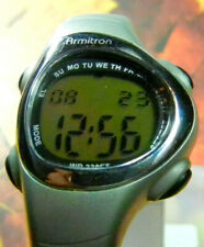 "ARMITRON ""Alarm/Chrono"" Women's 10ATM Quartz LCD Sport Watch-RUNS-FREE SHIPPING!"
