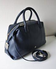 AIGNER Tasche Roma Leather Tote Black Bag Leder navy blau