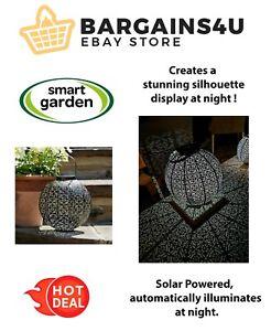 Bronze Damasque Solar Garden Lantern Decorative Silhouette Display Light New
