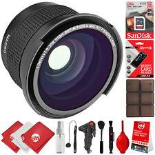 Opteka 0.35x Fisheye Lens Kit For Canon 7D 80D 77D T7i SL2 T7 T6i T6 T5i T5 T4i