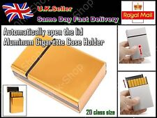 Ultra thin Fashionable Automatically open the lid Aluminum Cigarette Case Holder