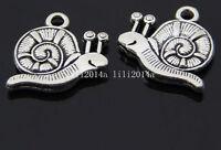 10pc Retro Tibetan Silver snail Charm Beads Pendant accessories wholesale  PL165