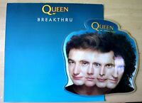NM/NM QUEEN BREAKTHRU SHAPED VINYL PICTURE DISC PVC SLEEVE + INSERT