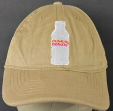0c4ac1f169b Beige Dunkin  Donuts Coffe Co Logo Embroidered Baseball Hat Cap Adjustable  Strap