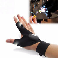 Finger Glove with LED Light Flashlight Tools Outdoor Gear Rescue Night Fishing L