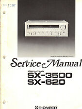 PIONEER SX-3500 620 RECEIVER SERVICE MANUAL ORIGINAL FACTORY USED CONDITION