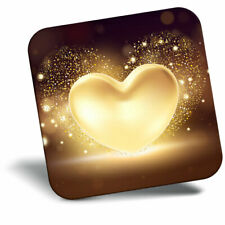 Awesome Fridge Magnet - Gold Heart Love Valentines Cool Gift #2054