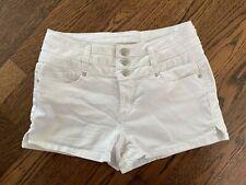 🔥 Blue Spice® White High Waist Women's Button Vintage Shorts size 7