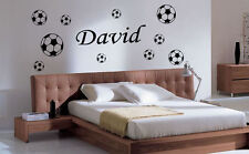 Football Wall Sticker,Decals, home decor Personalised Kid Headboard 10 Footballs