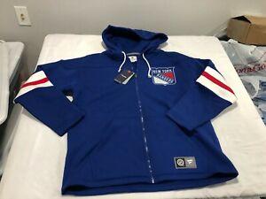 NWT $109.99 Fanatics Mens New York Rangers Breakaway Full Zip Hoodie Sz LARGE