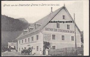 Gruss aus Tertz Gasthof Zur steirischen Grenze Lahnsattel St. Aegyd am Neuwalde