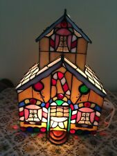 Stained Glass Lighted Gingerbread House