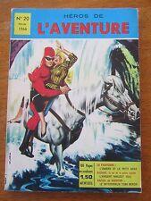 ANCIENNE BD HEROS DE L'AVENTURE LE FANTOME N°20 COMICS 1966