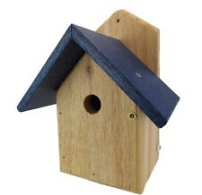 Nature Products USA Chickadee Birdhouse, Blue Recycled Poly Lumber Roof, WREN-4B