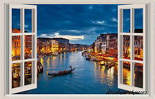 Italy Window View Repositionable Color Wall Sticker Wall Mural Stickers 3 FT