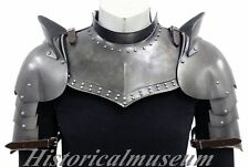 Medieval Larp Armor Gorget Set W/Pauldrons Shoulder Guard halloween costumes