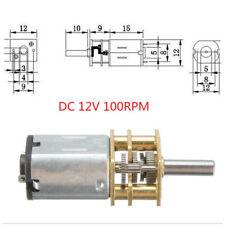 DC 12V Mini Getriebemotor gear motor 100 U/min  3mm Welle für Modellbau Roboter