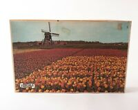 "Vintage 70s Fairchild Europa Tulip Time Holland 1200 Piece Puzzle 25 x 22.5"" New"