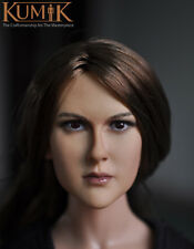 "1/6 Scale Female Head Sculpt KUMIK For 12"" Hot Sideshow Toys TTL HT Body 13-75"