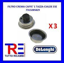 3 FILTRI CREMA CAFFE' DE LONGHI ORIGINALE 1 TAZZA E CIALDE ESE 7313285829