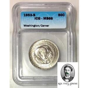 1953 S Washington Carver Half ICG MS66 *Rev Tye's* #350152