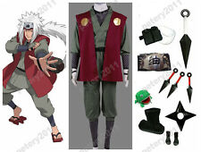 Custom-made Naruto Anime Jiraiya Cosplay Costume Halloween Set