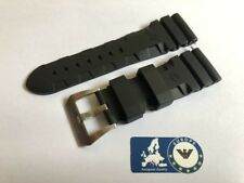 Rubber Strap for Panerai Luminor Submersible Officine Black 26mm Buckle Vent PA4