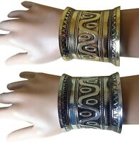 Egyptian Bracelet Cuff Belly Dance Hand Made Jewelry Tribal Ethnic Oriental 107