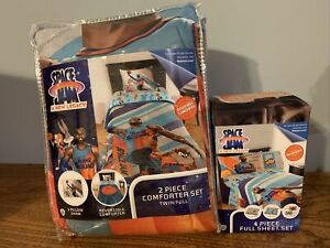 Space Jam LeBron James Reversible 2 piece Comforter Twin/Full & 3 pc Full Sheets