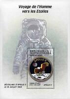 MADAGASCAR 2000 USA =  APOLLO 11 SPACE CREW & PATCH S/S MNH