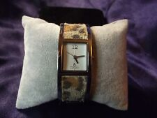 Woman's Bijoux Terner Watch with Leopard Print on Band **Nice** B27-556