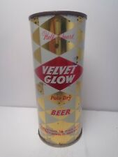 16 oz VELVET GLOW FLAT TOP BEER CAN #236-12  GRACE BROS. BREWRY  SANTA ROSA, CA.