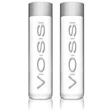 Voss Artesian Still Water Glass Bottles 375 ml 12.7 oz (2 Pack)