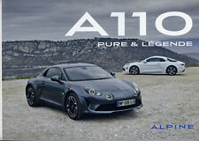 Catalogue brochure prospekt Alpine A110 Pure & Légende brochure lot de 3 2018 DE