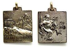 Medaglia Montagna Rifugio Col Rodella m. 2486 - Re Laurino Metallo Argentato