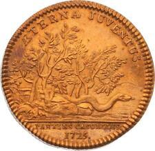 O4053 RARE Jeton Louis XV Parties Casuelles Jeunesse éternelle 1725 SPL