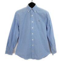 Vineyard Vines Mens Whale Shirt Size S Blue Check Long Sleeve Button Down Cotton