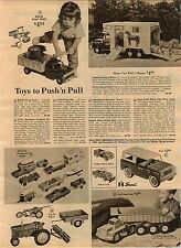 1963 ADVERT Toy Tru Scale Scout Buddy L Horse Van Truck International Harvester