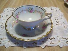 Kahla Footed Teacup Saucer White Floral Garland