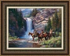 """""""SPIRIT OF PI'TAMAKA - RUNNING EAGLE"""" by Martin GRELLE. SOLD OUT! FRAMED, PPR #1"""
