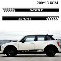 2 Pcs Car Auto SUV Body Sides Long Stripe Graphics Decal Stickers Sports Styling