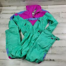 Vintage SPYDER One Piece apres SKI SUIT Snow Bib retro Snowsuit Womens Size 10