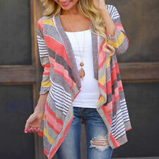 Womens Long Sleeve Knitted Cardigan Loose Boho Sweater Outwear Jacket Coat Tops